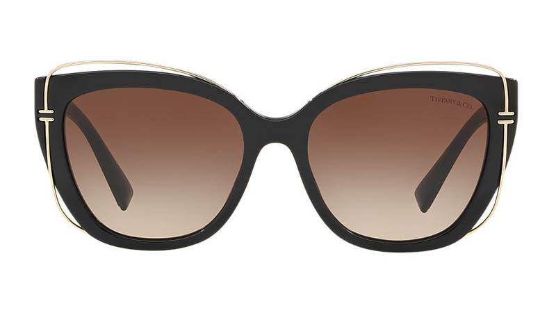 Tiffany & Co. Tiffany T Sunglasses in Black/Brown $360