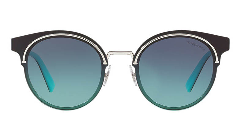 Tiffany & Co. Tiffany T Sunglasses in Silver/Blue $360