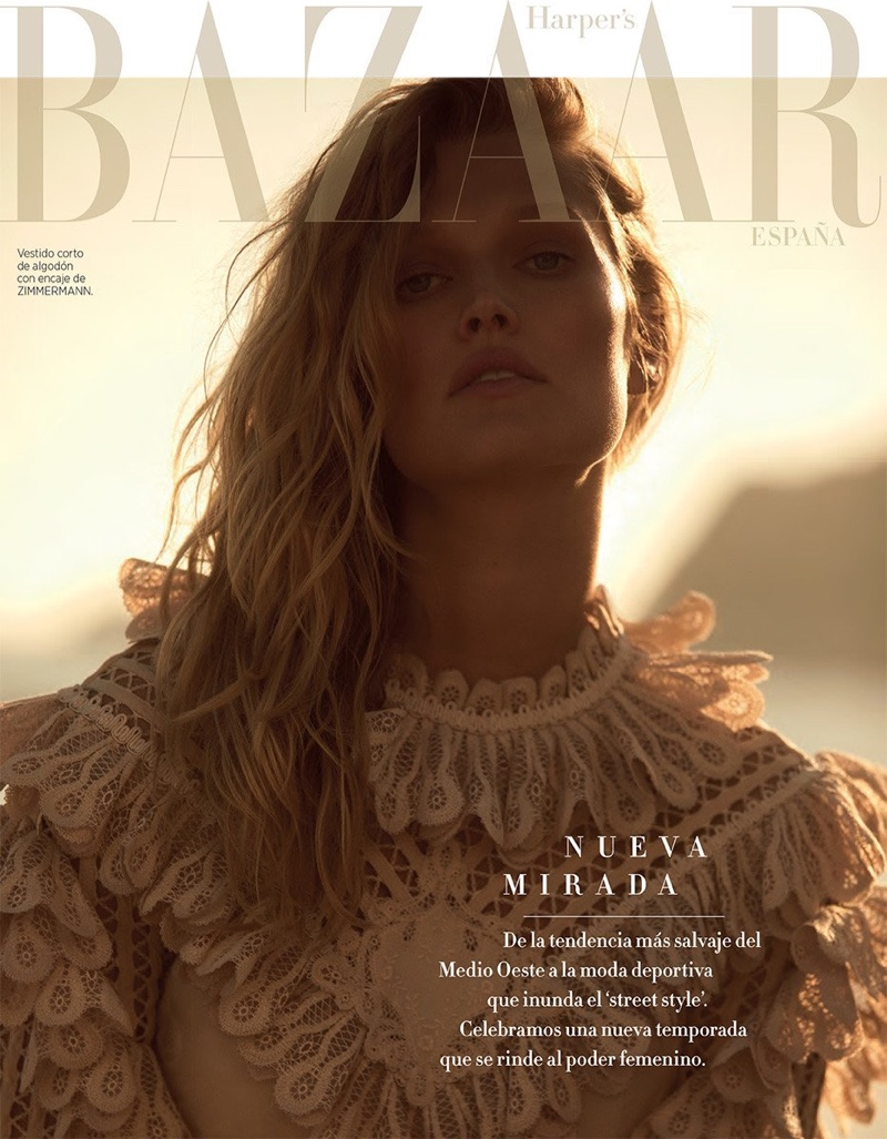 Toni Garrn Graces the Pages of Harper's Bazaar Spain
