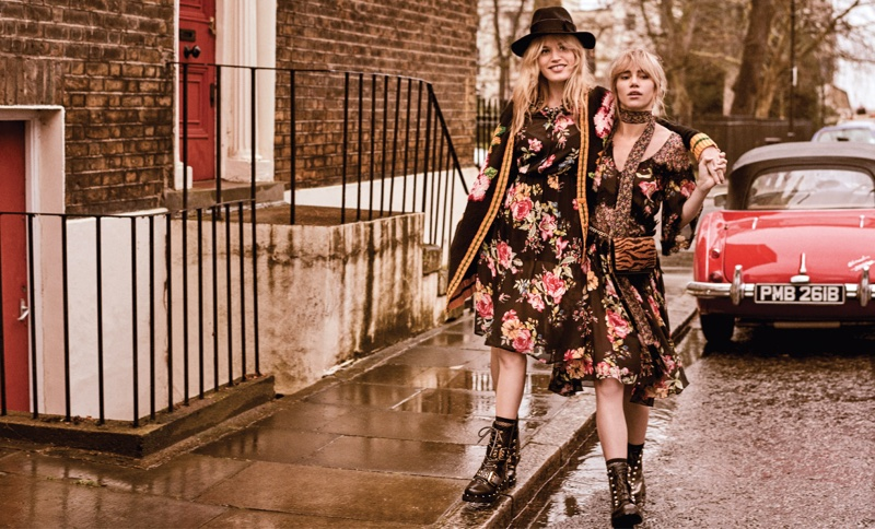 Twinset spotlights floral prints for fall-winter 2018 campaign
