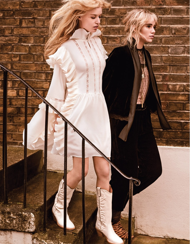 Georgia May Jagger and Suki Waterhouse appear in Twinset fall-winter 2018 campaign