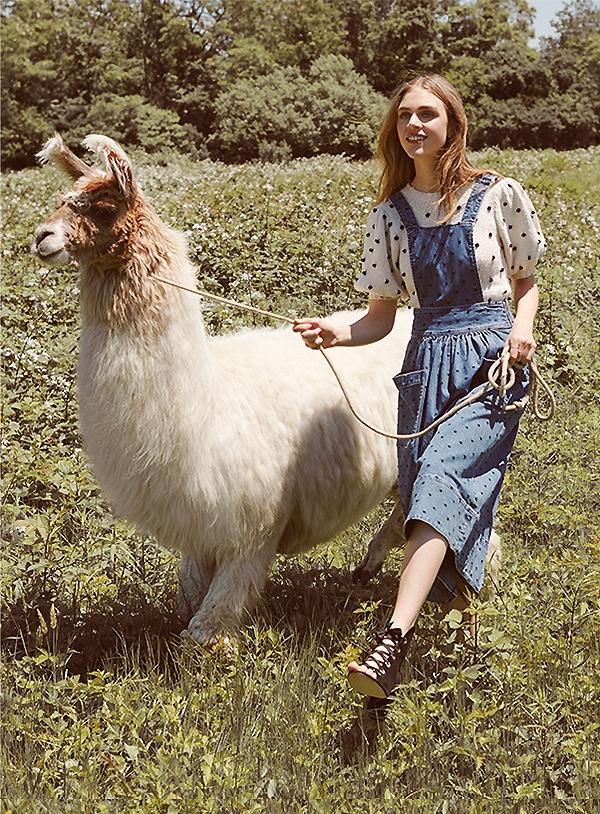 Ulla Johnson Johanna Pinafore Dress and Bettine Sweater