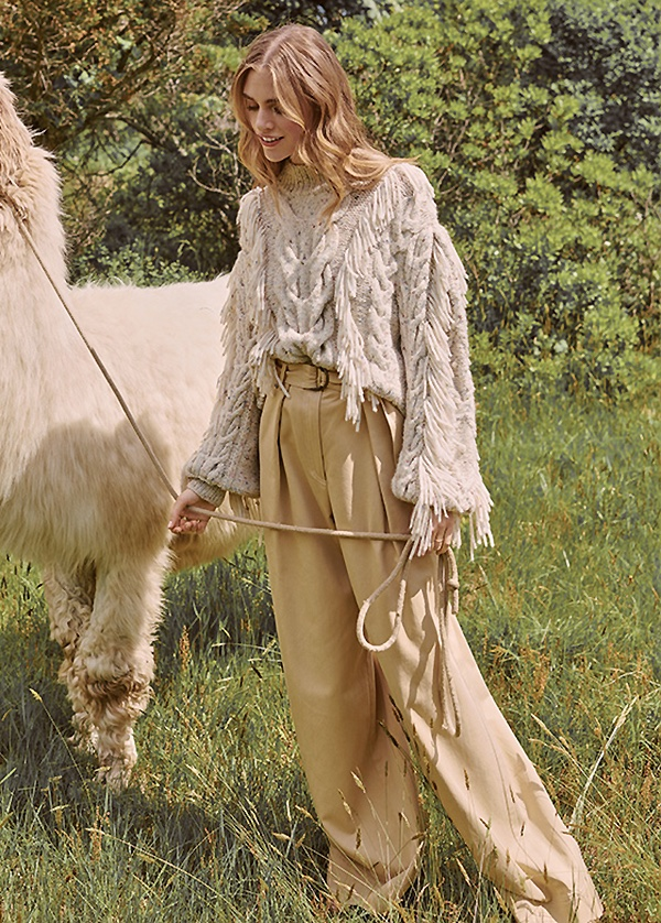 Ulla Johnson Marcella Pullover and Rhodes Trousers