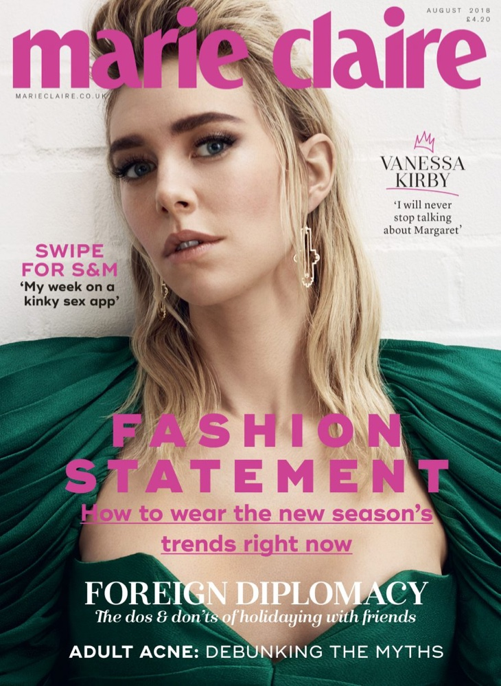 Vanessa Kirby on Marie Claire UK August 2018 Cover