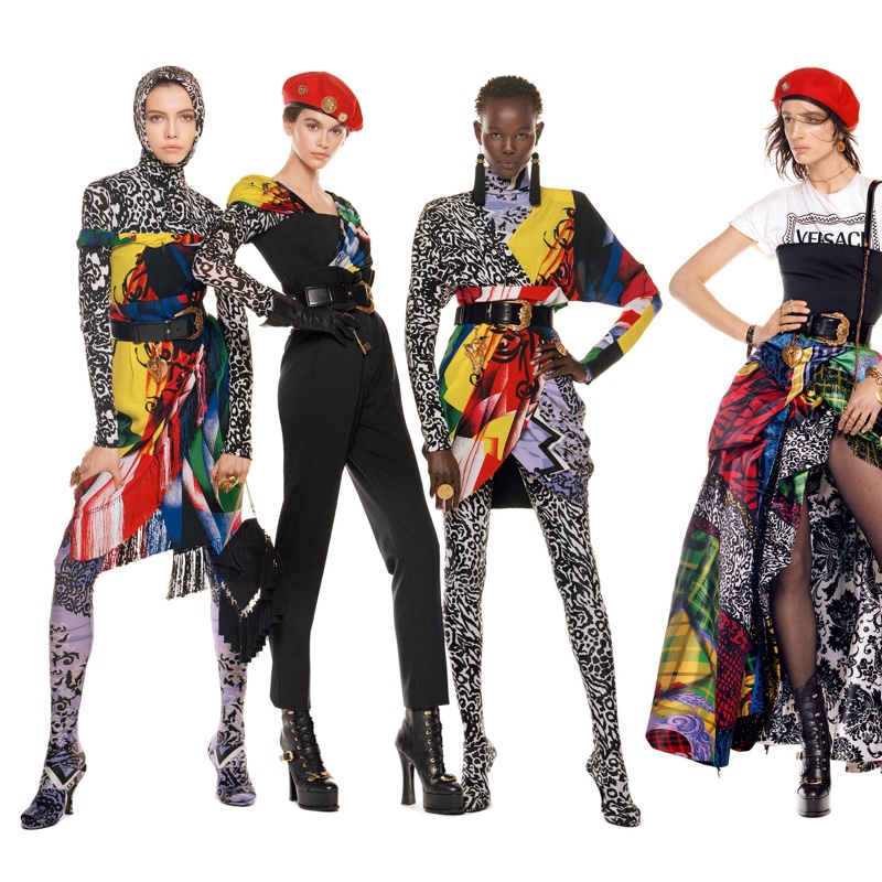 Léa Julian, Kaia Gerber, Shanelle Nyasiase and Rachel Marx appear in Versace fall-winter 2018 campaign