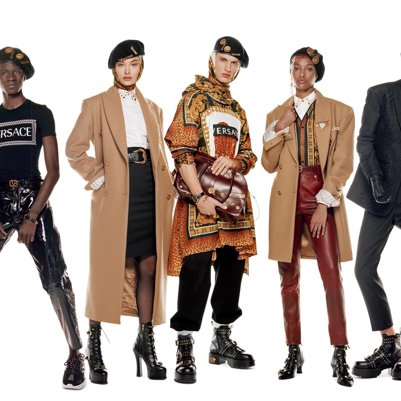 Malick Bodian, Grace Elizabeth, David Trulik and Naomi Chin Wing appear in Versace fall-winter 2018 campaign