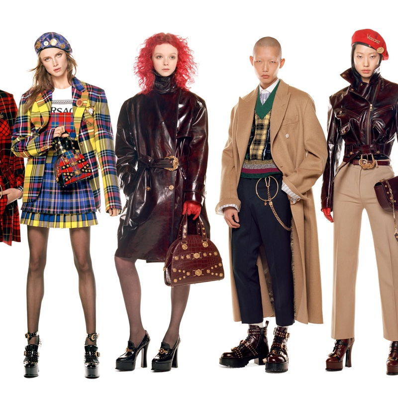 Rianne van Rompaey, Lily Nova, Xu Meen and Heejung Park appear in Versace fall-winter 2018 campaign