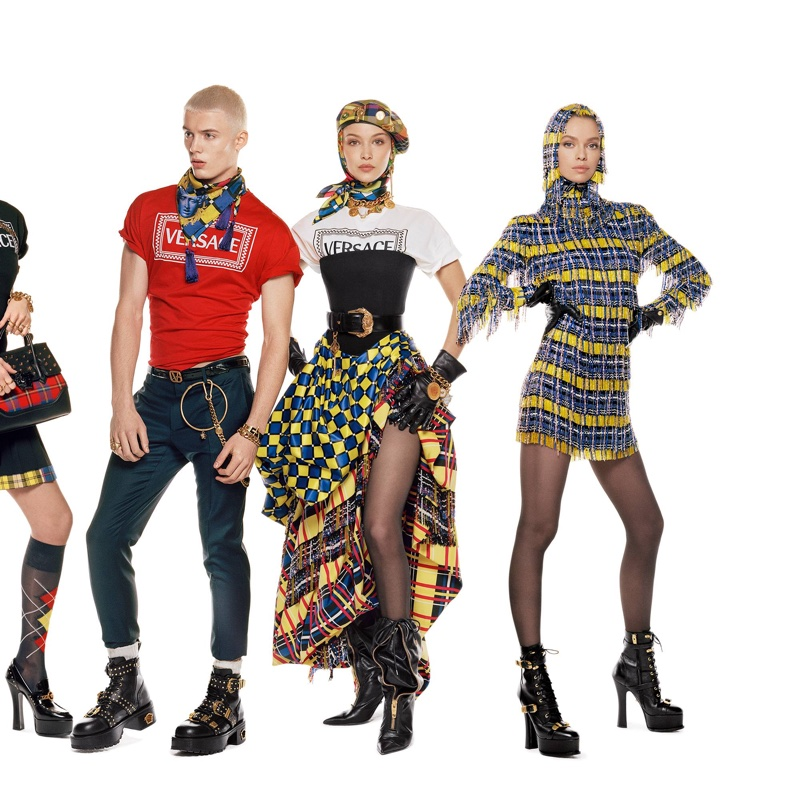 Joao Knorr, Bella Hadid and Stella Maxwell front Versace fall-winter 2018 campaign