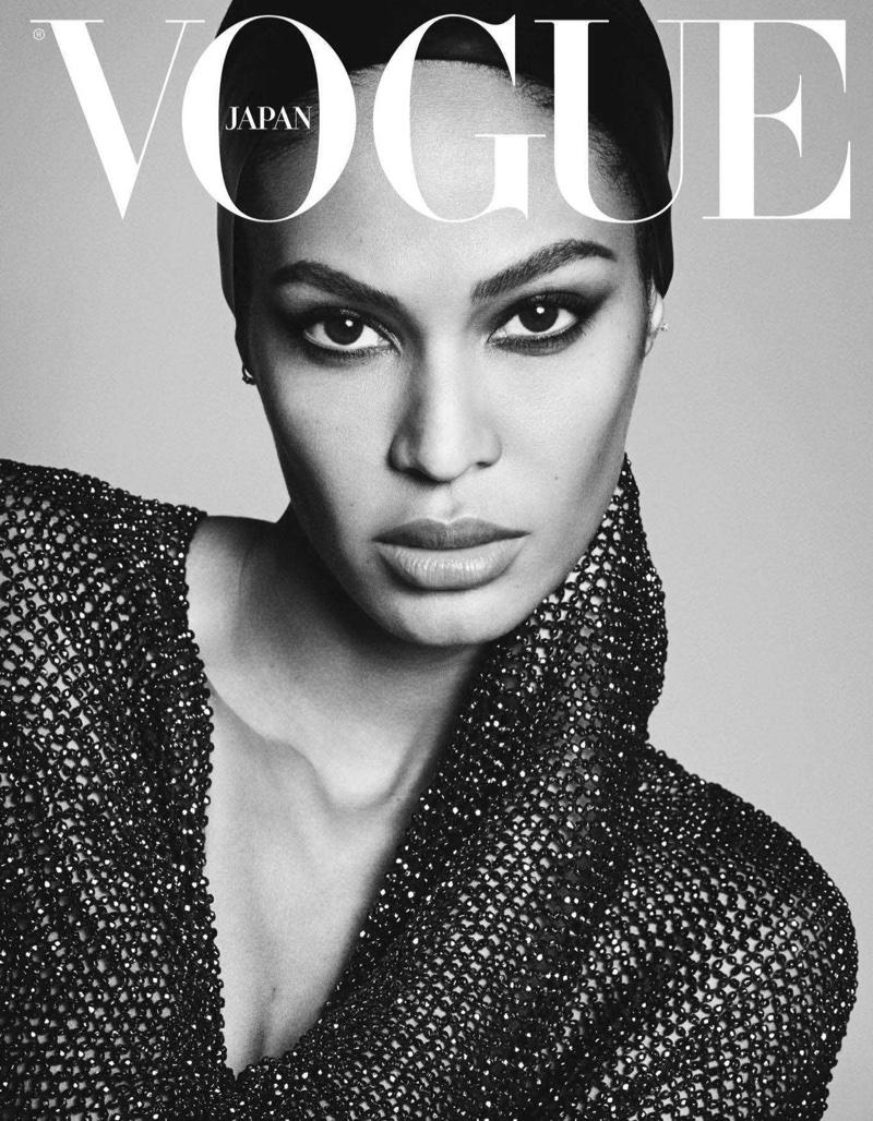 Amber, Joan, Anna & Faretta Stun in Black & White for Vogue Japan
