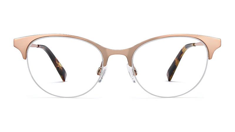 Warby Parker Esther Glasses in Rose Gold $145