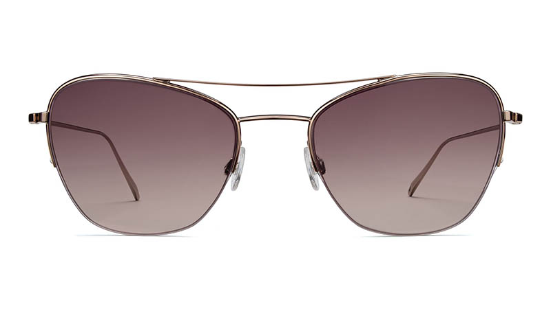 Warby Parker Rae Sunglasses in Rose Gold with Rose Gradient Lenses $145