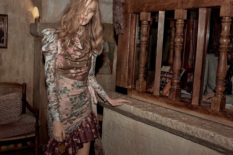 Zimmermann spotlights Tempest tucked contour mini dress in fall-winter 2018 campaign