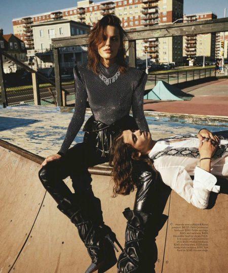 Amanda Murphy Models Rock & Roll Style for Vogue Australia