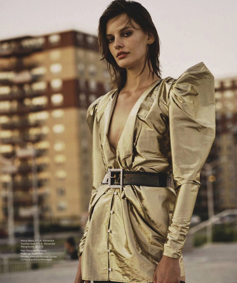 Amanda Murphy Models Rock & Roll Style for Vogue Australia