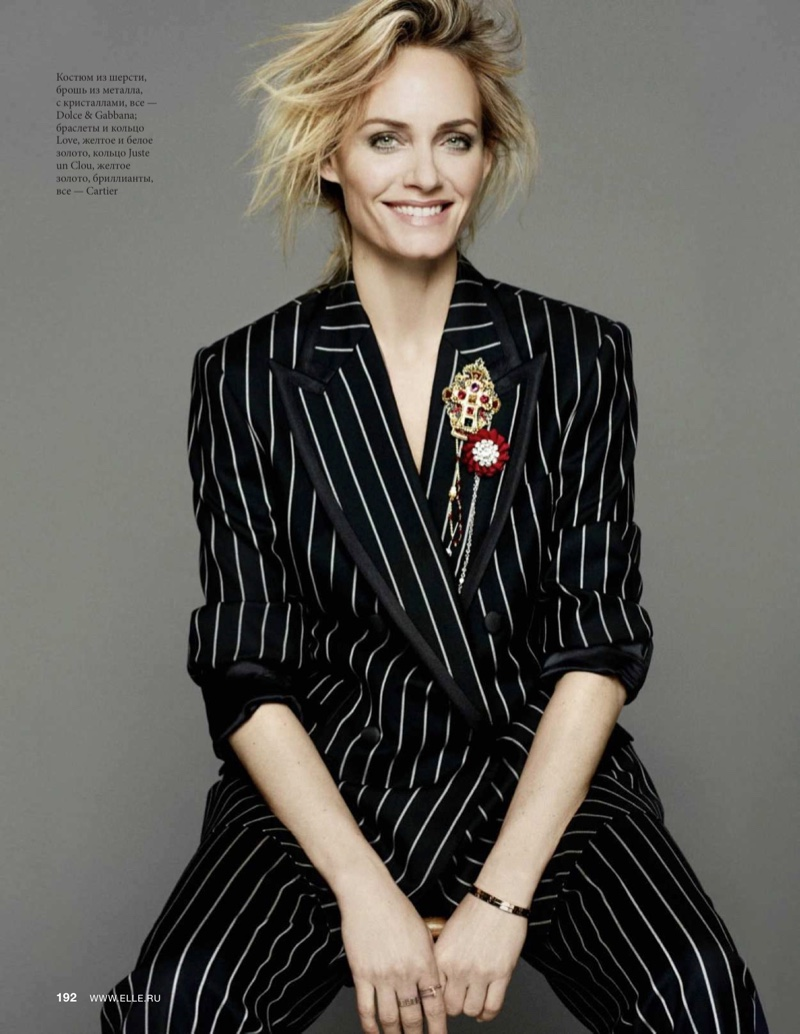 Amber Valletta Graces the Pages of ELLE Russia
