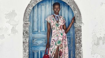 Adut Akech Jets to Greece for Americana Manhasset Fall 2018 Campaign