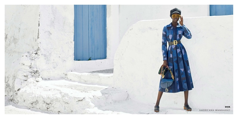 Adut Akech models Dior for Americana Manhasett fall-winter 2018 campaign