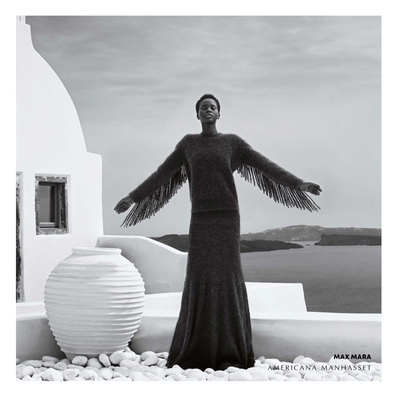 Adut Akech appears in Americana Manhasset fall-winter 2018 campaign