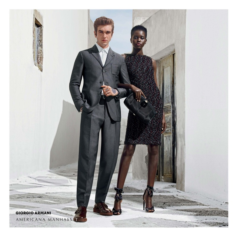 Gabriel-Kane Day Lewis and Adut Akech front Americana Manhasset fall-winter 2018 campaign