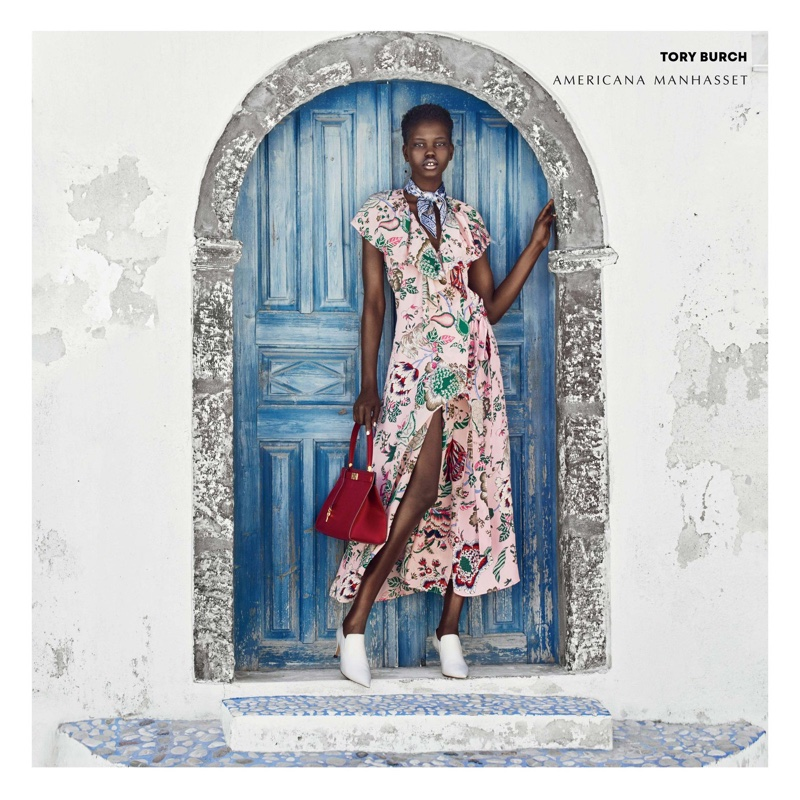 Model Adut Akech wears Tory Burch for Americana Manhasset fall-winter 2018 campaign