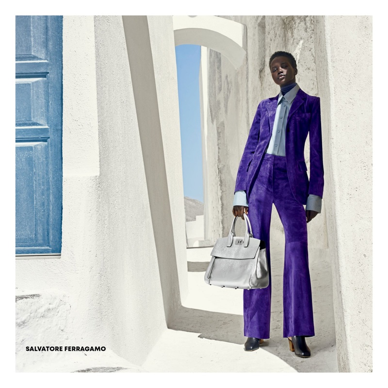 Adut Akech suits up in Americana Manhasset fall-winter 2018 campaign
