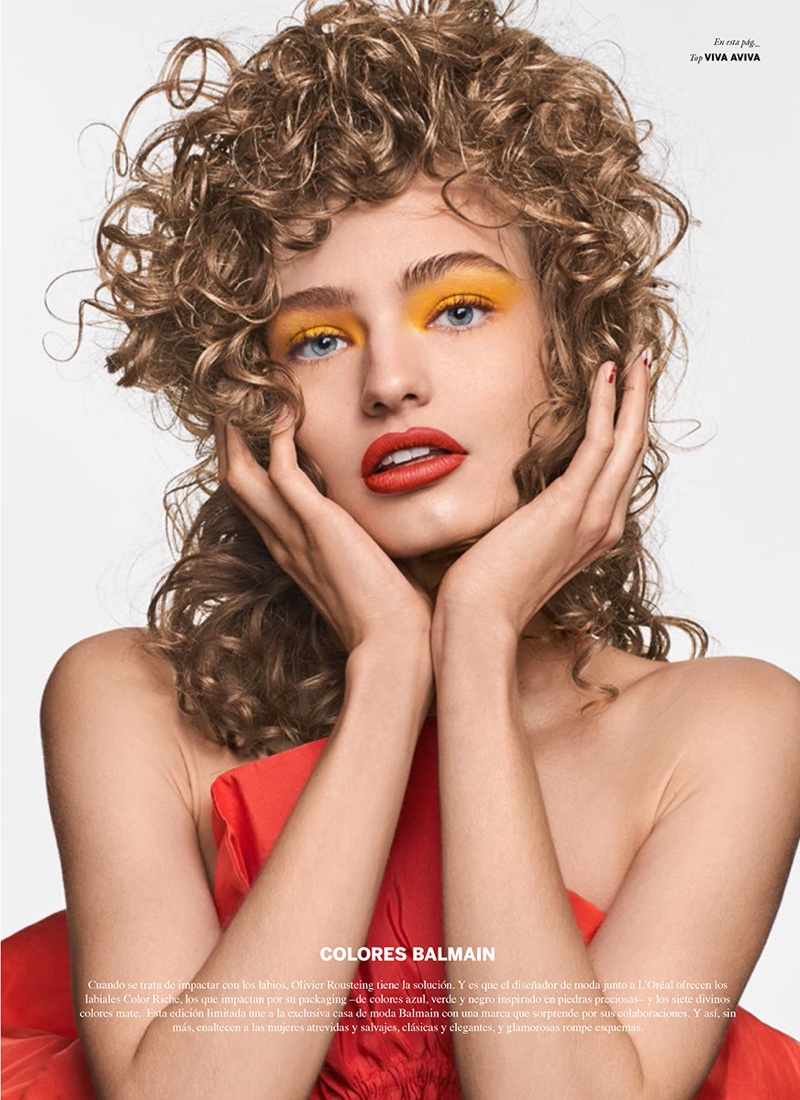 Anna Mila Guyenz Models Glam Makeup Looks for Issue Magazine