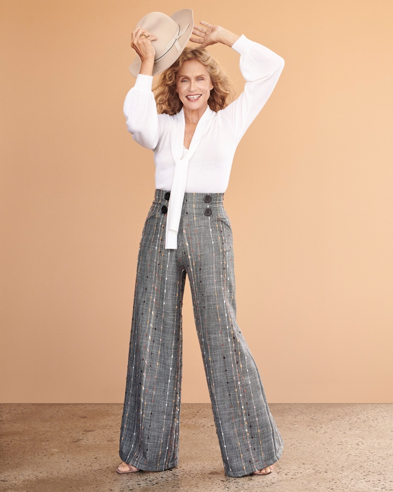 Model Lauren Hutton appears in Anthropologie fall 2018 campaign