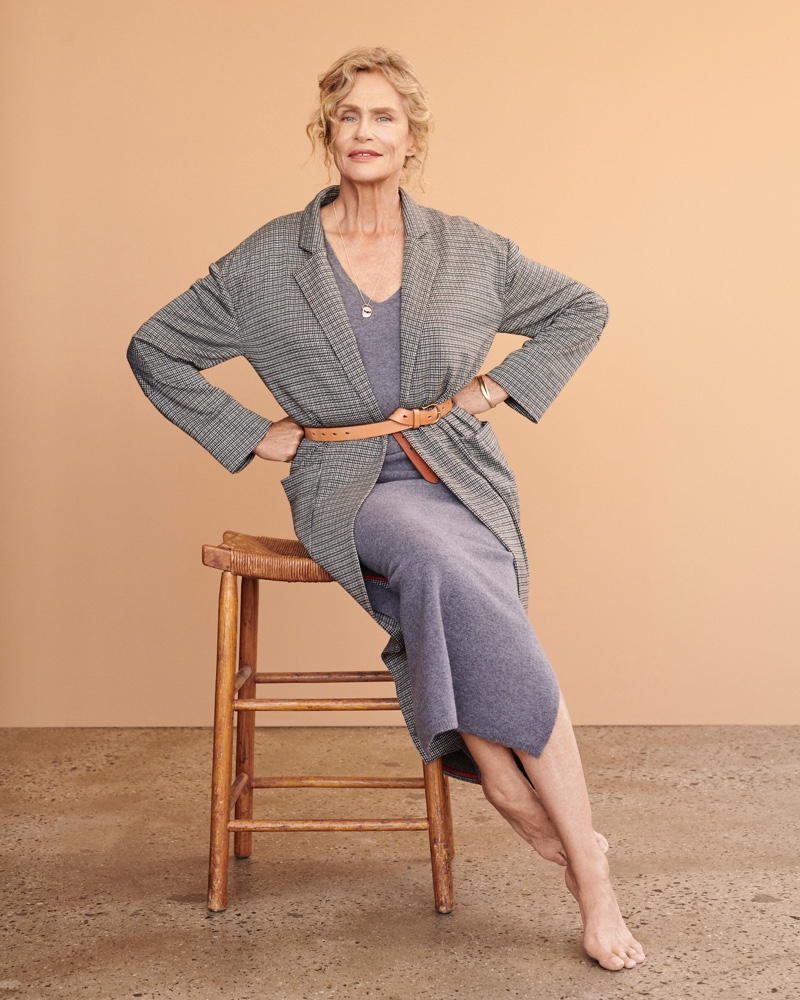 An image from the Anthropologie fall 2018 campaign with Lauren Hutton