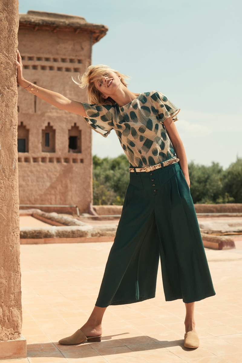 Anja Rubik stars in Anthropologie September 2018 catalog