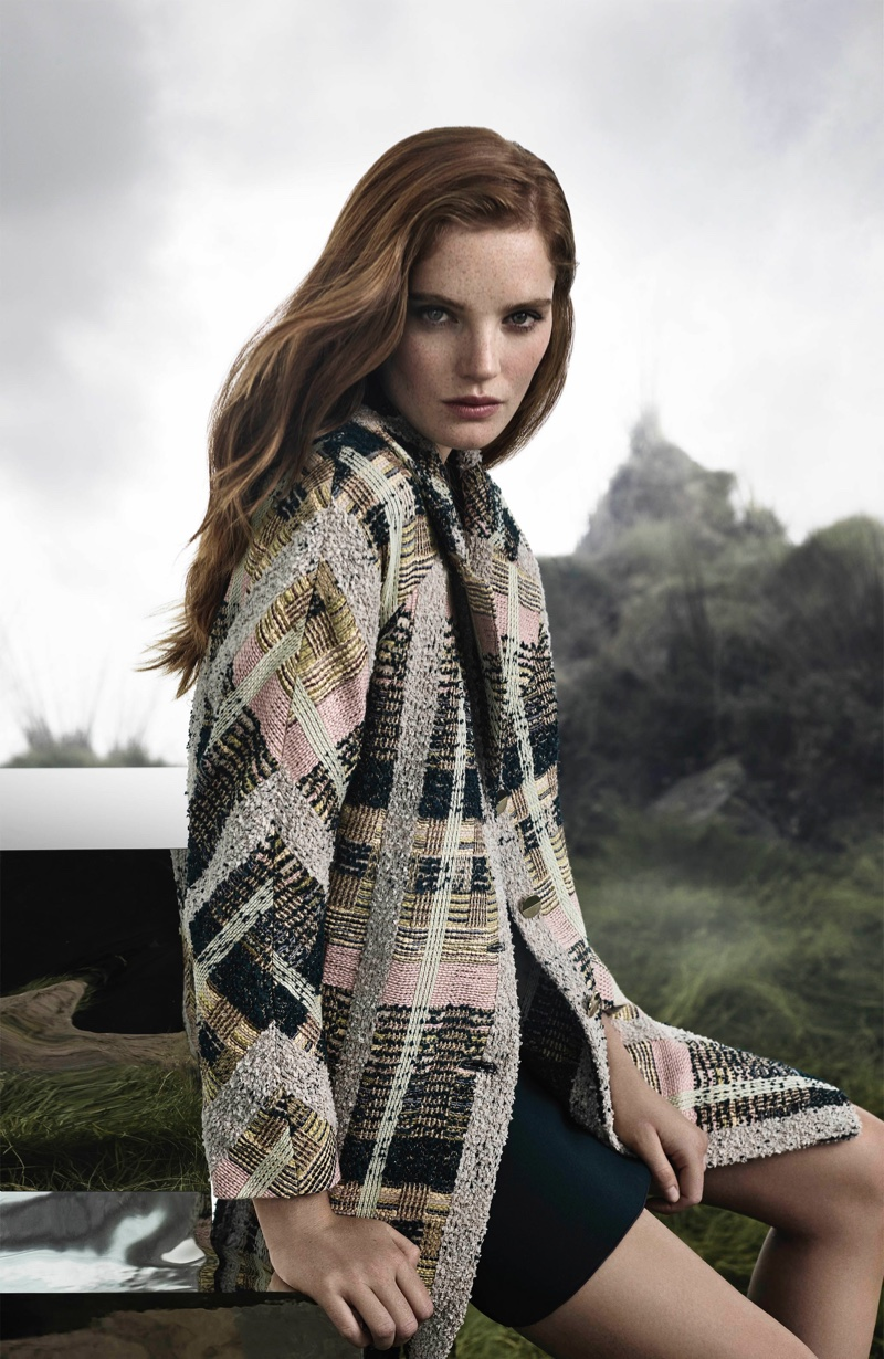 Alexina Graham stars in Aquascutum fall-winter 2018 campaign