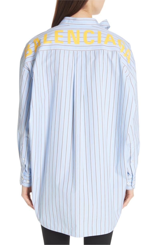 Balenciaga Back Stripe Shirt $1,050