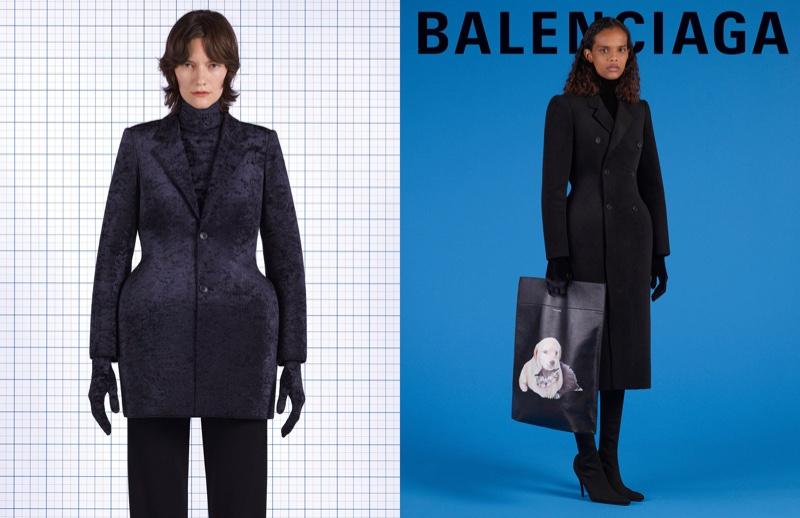 Martina Almquist and Natalia Montero star in Balenciaga fall-winter 2018 campaign
