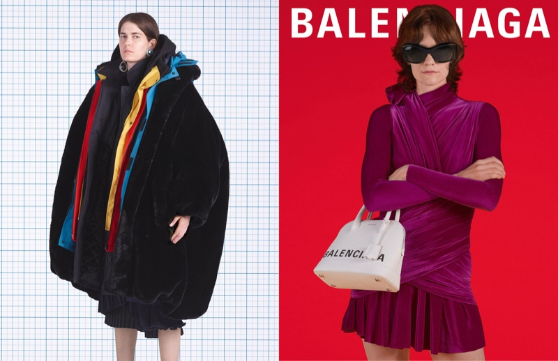 ... Eliza Douglas and Martina Almquist front Balenciaga fall-winter 2018  campaign