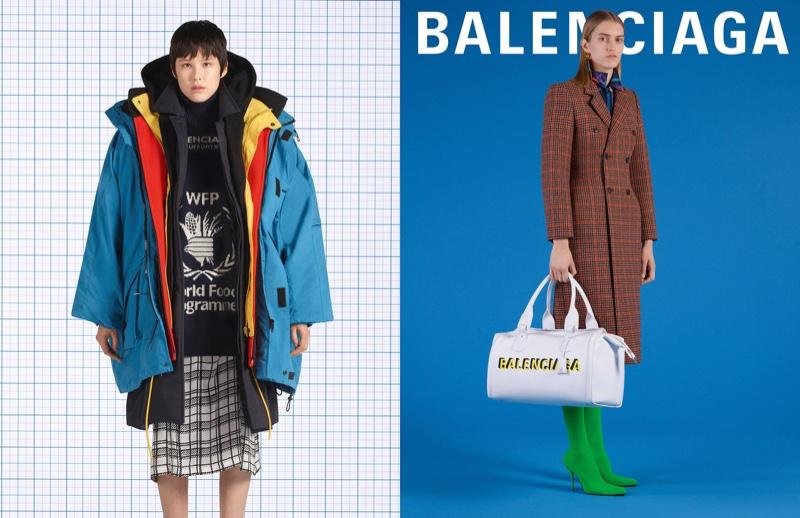 Kennah Lau and Amanda Hermansson front Balenciaga fall-winter 2018 campaign