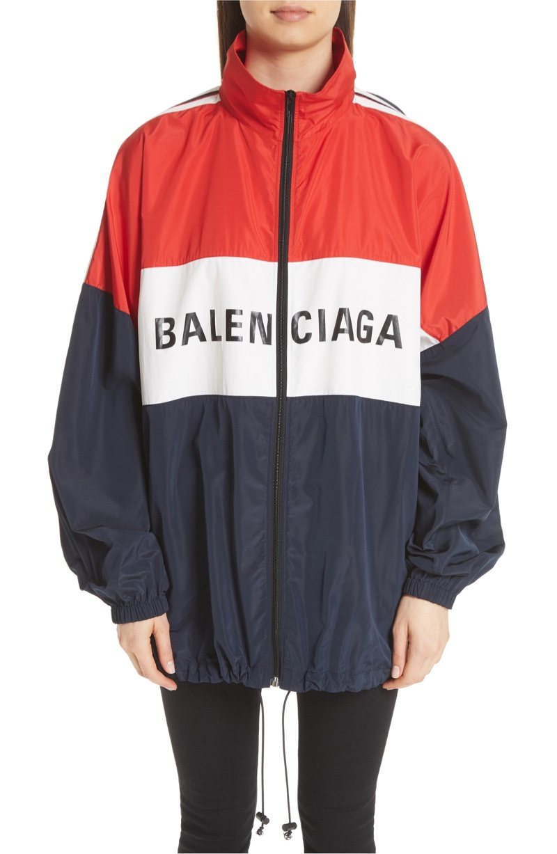 Balenciaga Logo Colorblock Windbreaker $1,490