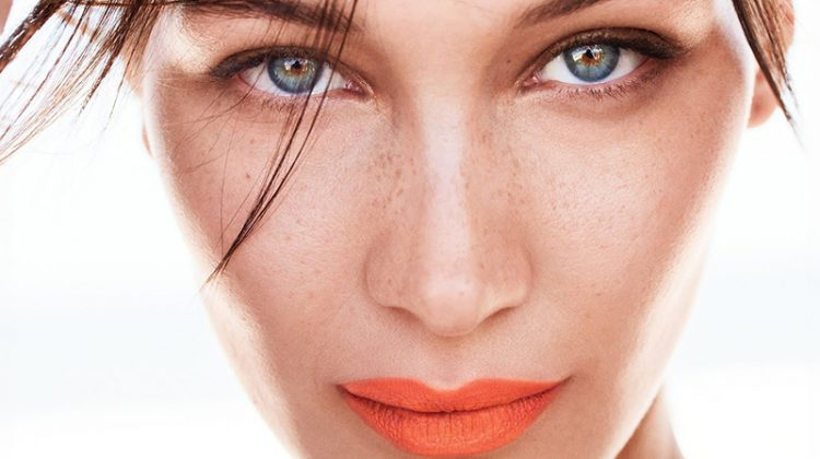 Bella Hadid Models Bold Lipstick Looks in Allure