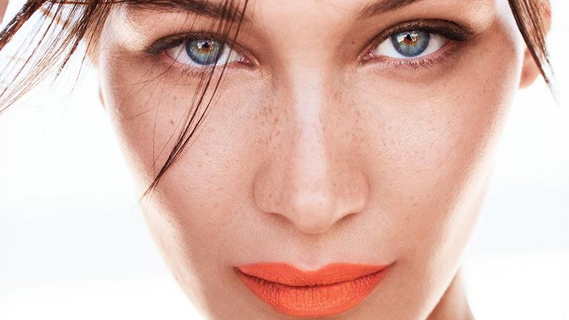 Bella Hadid Models Bold Lipstick Looks in Allure