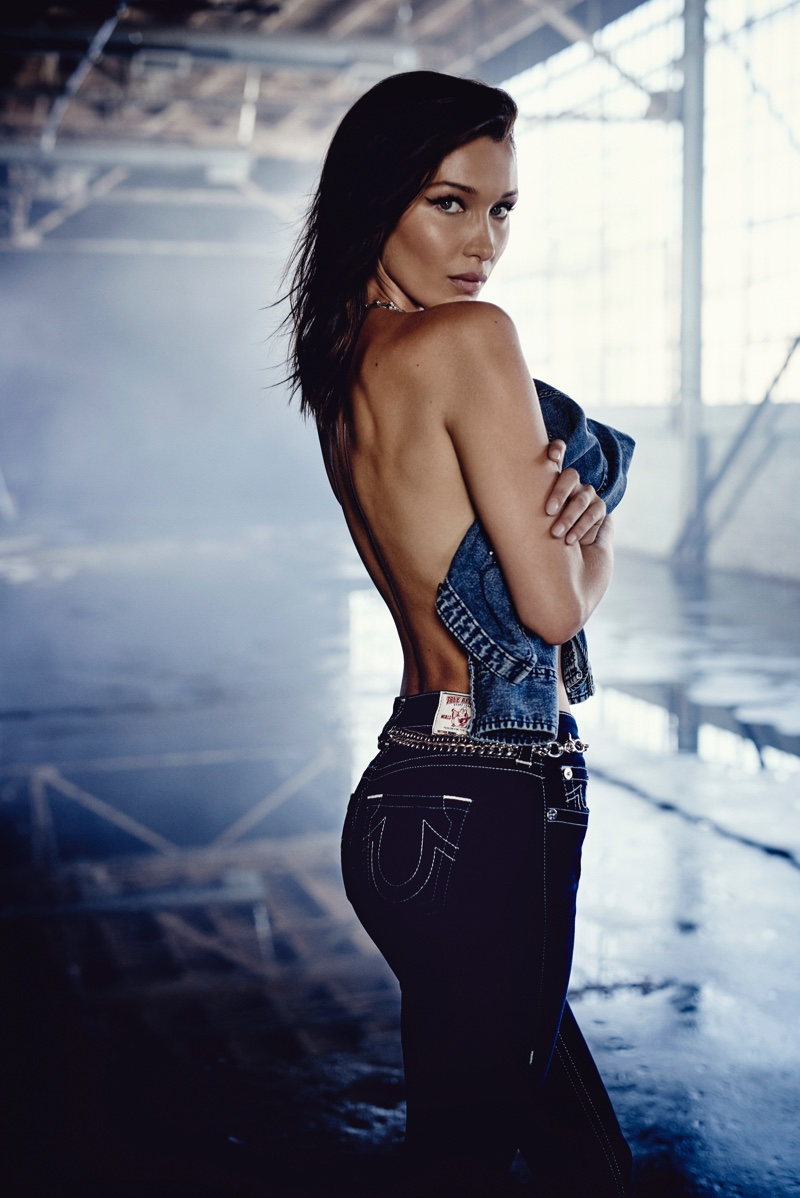 Bella Hadid goes topless in True Religion fall-winter 2018 campaign