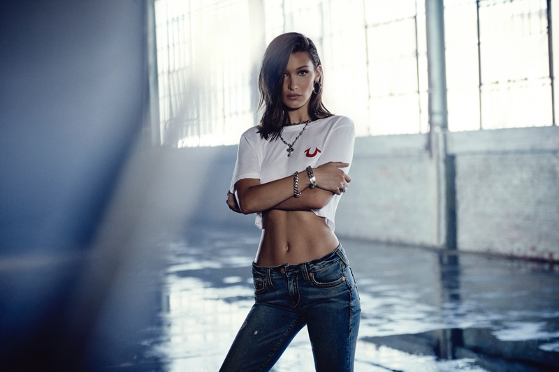 Bella Hadid stars in True Religion fall-winter 2018 campaign