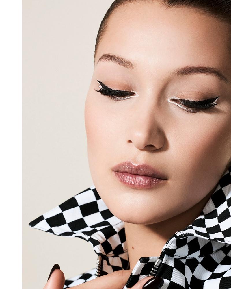 Bella Hadid Wows in Dior Makeup for Vogue China