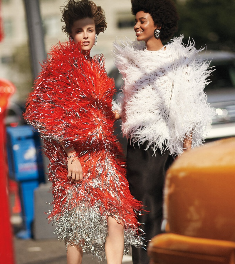 Edie Campbell and Manuela Sanchez star in Carolina Herrera fall-winter 2018 campaign