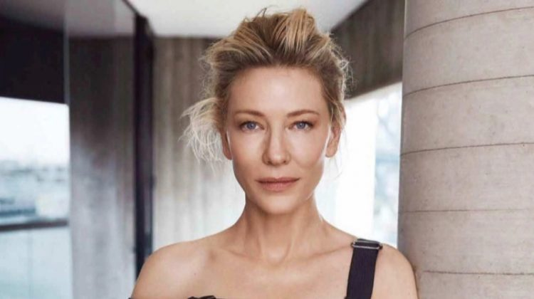 Actress Cate Blanchett wears Giorgio Armani dress