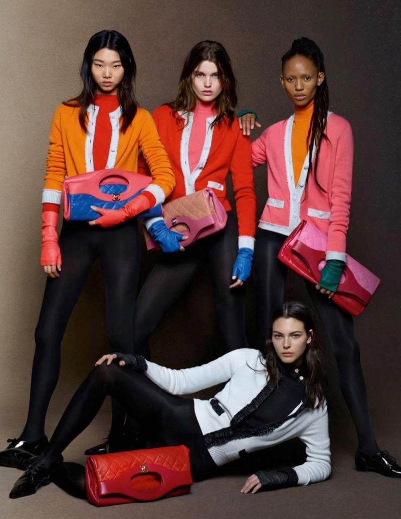 Yoon Young Bae, Luna Bijl, Adesuwa Aighewi and Vittoria Ceretti star in Chanel fall-winter 2018 campaign