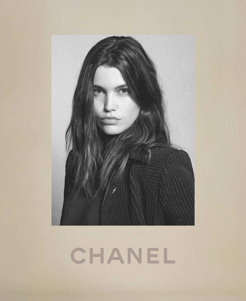 Luna Bijl poses in Chanel fall-winter 2018 campaign