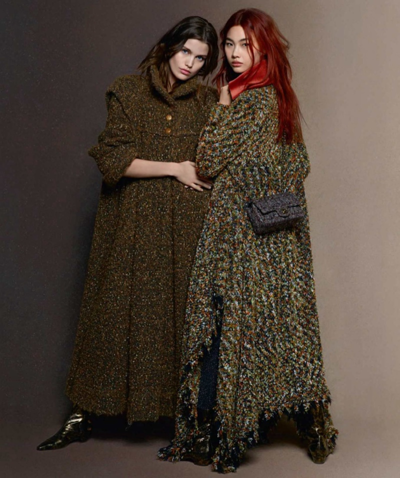Luna Bijl and Hoyeon Jung front Chanel fall-winter 2018 campaign