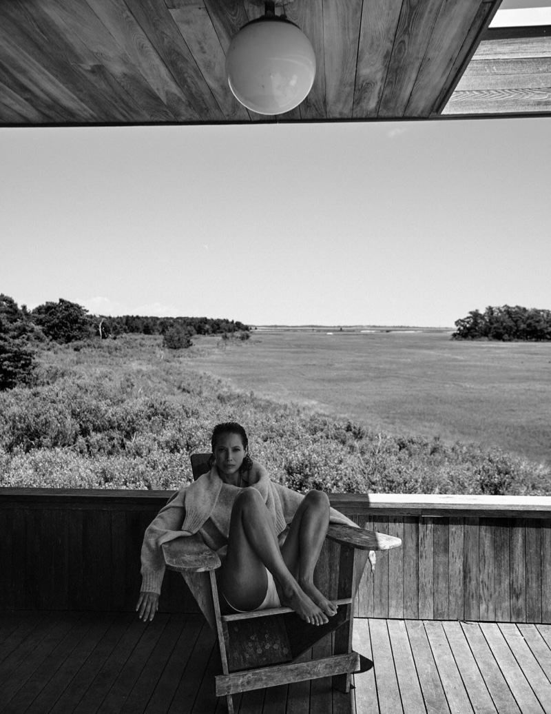 Christy Turlington Poses in Minimal Looks for Vogue Poland