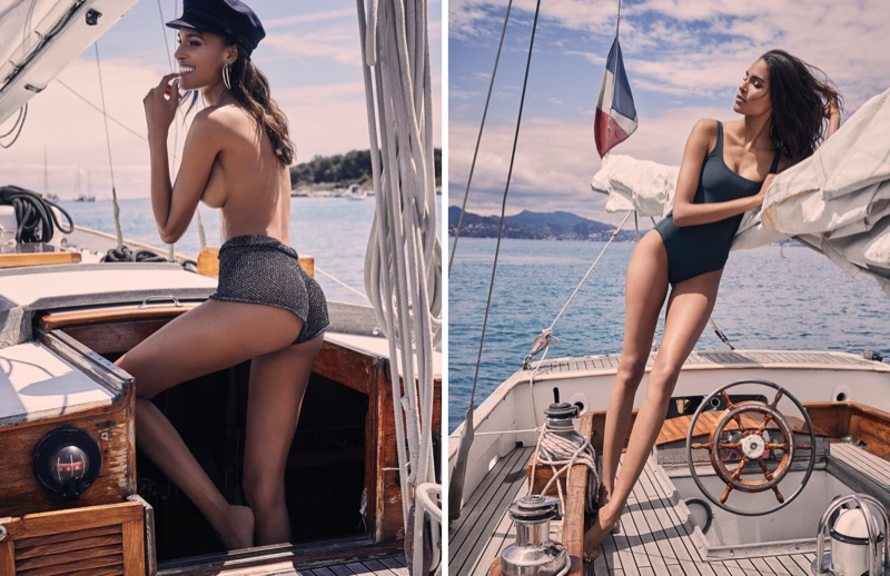 Cindy Bruna Sizzles in Summer Swimsuits for Paris Match