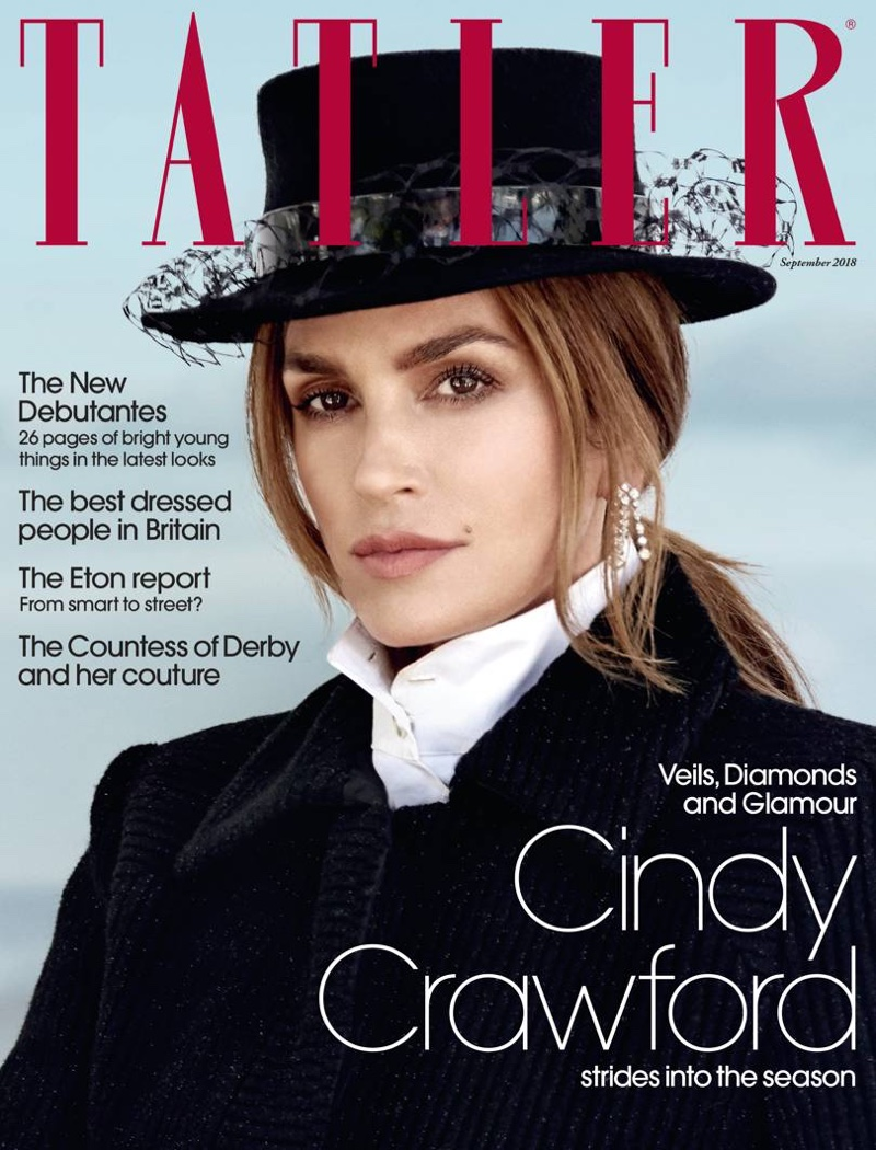 Cindy Crawford Wears Elegant Styles in Tatler