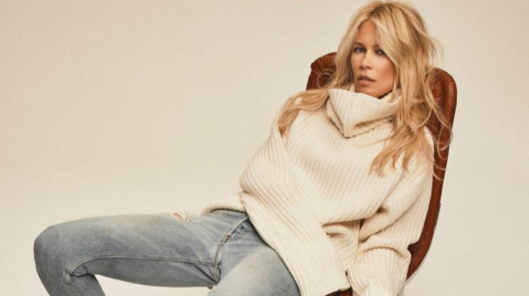 Claudia Schiffer Sports Casual Denim for Vogue Paris