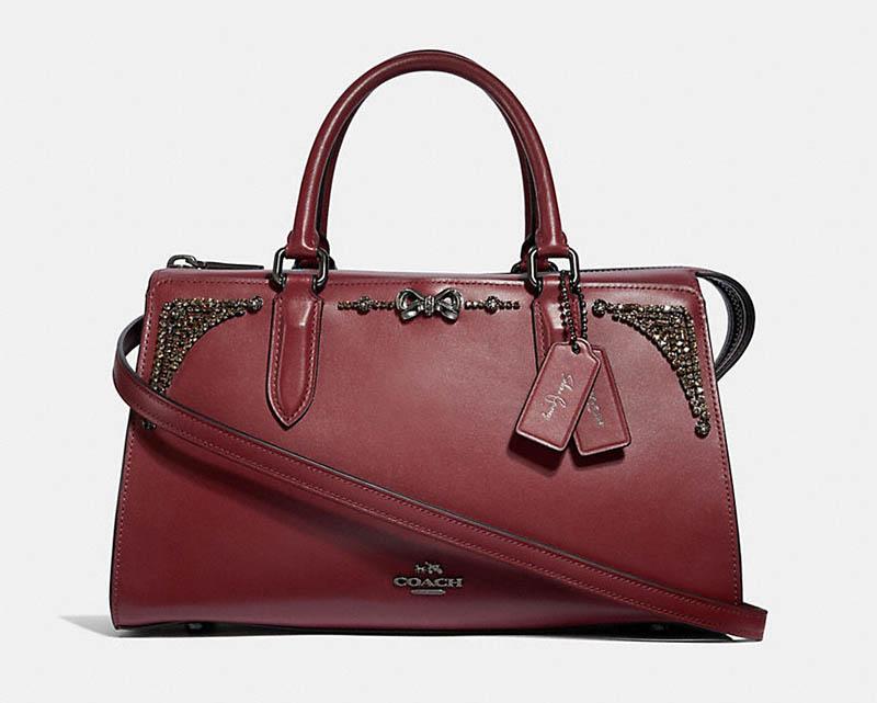Coach x Selena Gomez Bond Bag with Crystal Embellishment $475